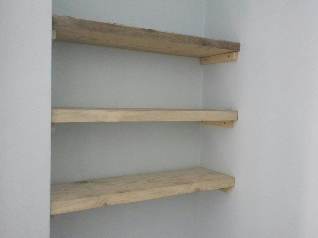Scaffold Board Shelves Before Sanding And Painting Flickr