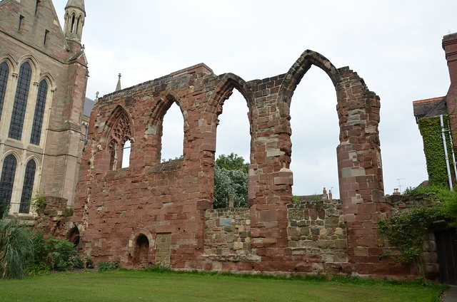 Worcester Cathedral - Ruined Wall