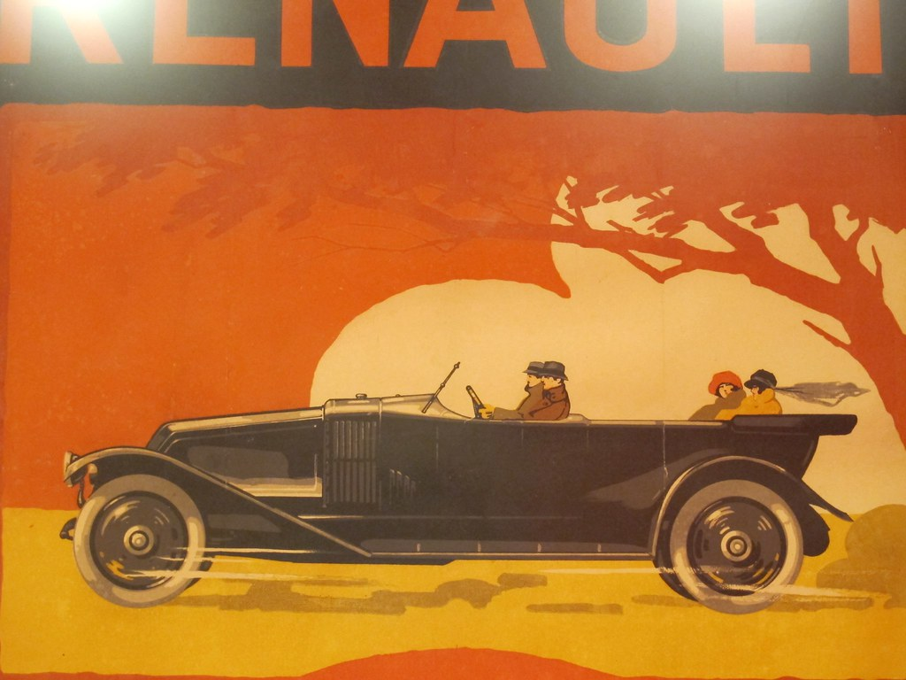 affiche voitures renault 1925 d tail exposition 192 flickr. Black Bedroom Furniture Sets. Home Design Ideas