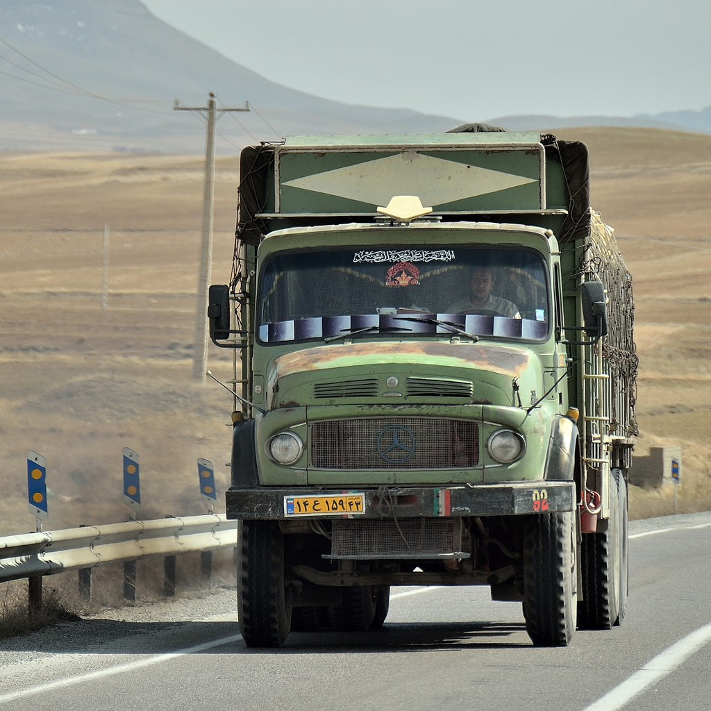 These old mercedes trucks are still in use in iran especi for Old mercedes benz trucks