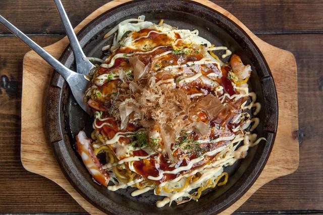 Okonomiyaki DX (Hiroshima style) | Flickr - Photo Sharing!