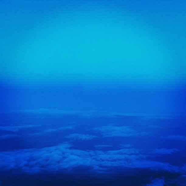 The sky was beautiful above the clouds tonight #travel