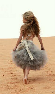 falda tul niña