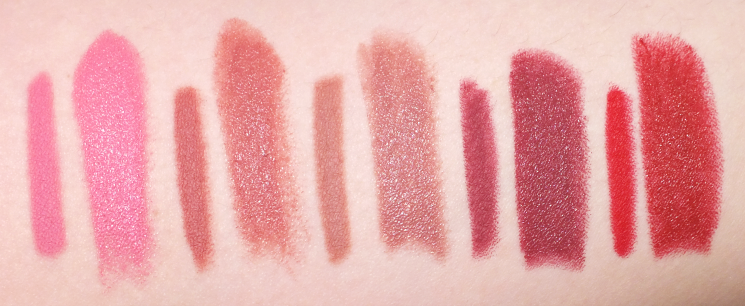 marcelle rouge expression velvet gel lipstick lip liner swatches