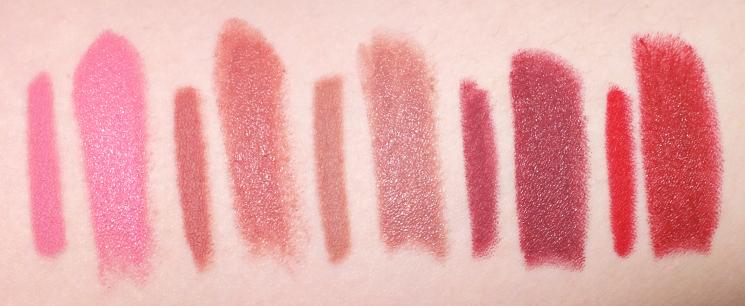 marcelle rouge expression velvet gel lipstick lip liner swatches