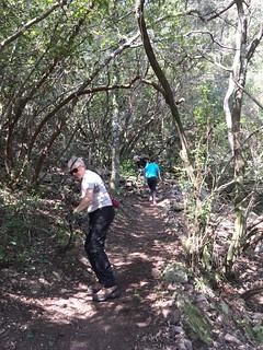 Travaux sur le sentier de la montée de Petra Strettai