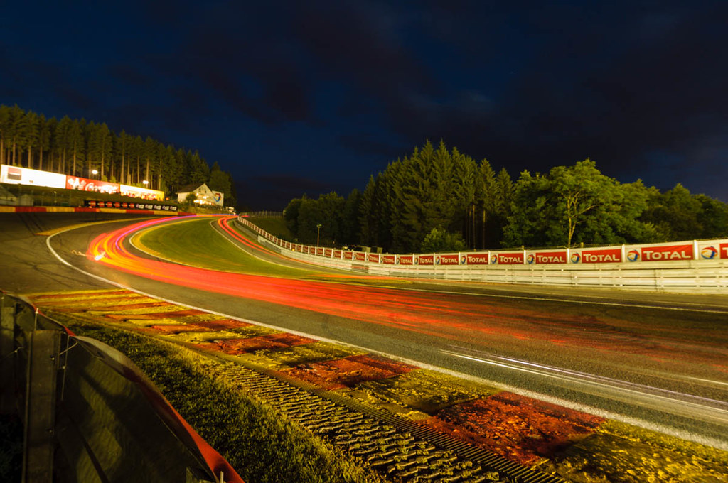 Eau Rouge at night | 24 hours of Spa | Rob Blank | Flickr