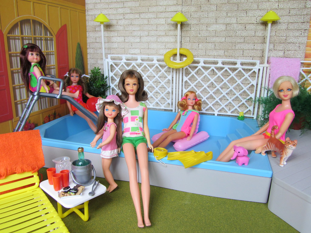 1 pool party it is almost the end of the summer and bar flickr for Barbie doll house with swimming pool