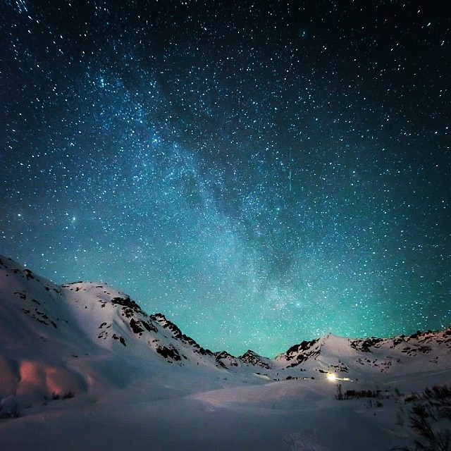 Stars And The Milky Way Talkeetna Mountains Www Lastfronti