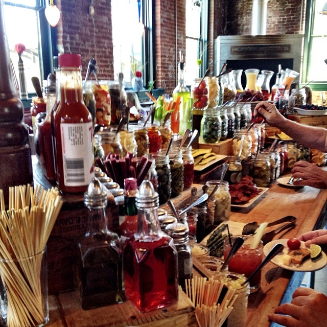 Bloody Mary Bar At Lyfe Kitchen