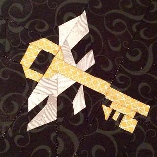 Flying Key! @sewhookedjen #fandominstitches #projectofdoom #pod2015 #projectofdoom2015 #harrypotter #potterhead #mypatronusisshowing #flyingkey #chamberofsecrets #gilderoylockhart #magicalme #tomriddle #basilisk #hogwarts #hermionegranger #devilssnare #sn