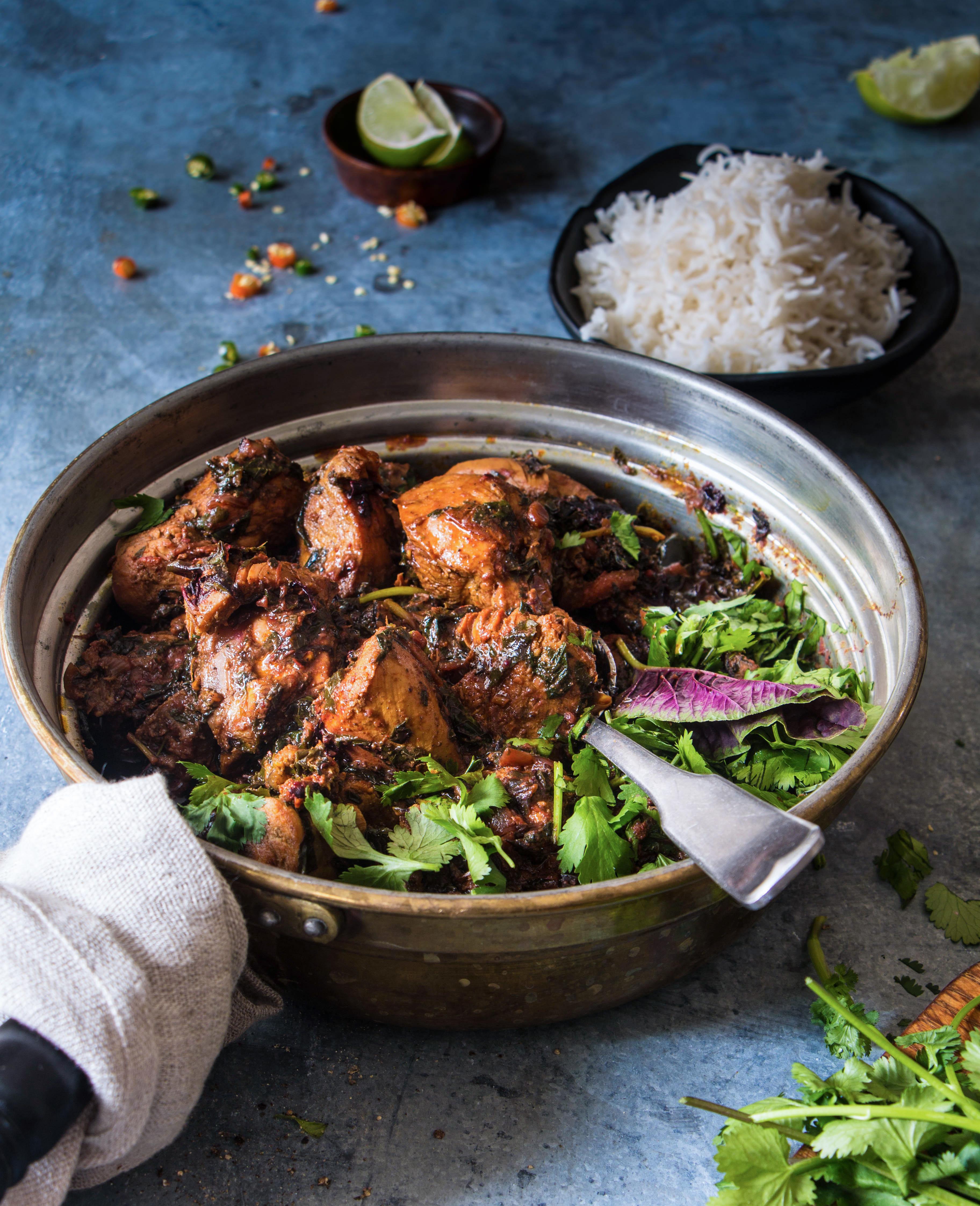 Spicy Amranth Chicken Curry/ Thotakura Chicken |foodafashionparty| #chickencurry