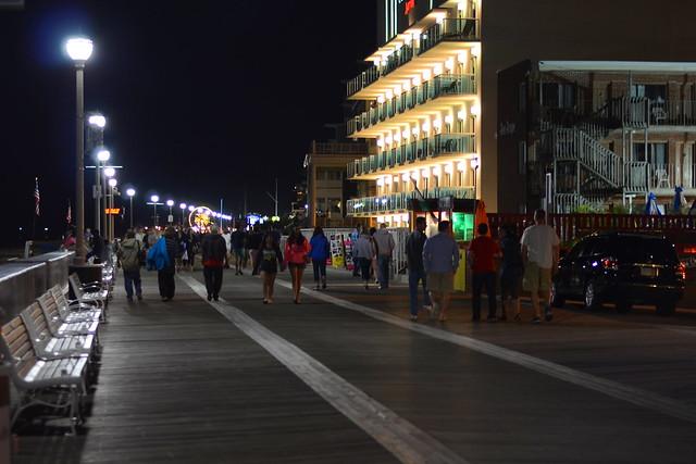 boardwalk at night ocean city maryland flickr photo