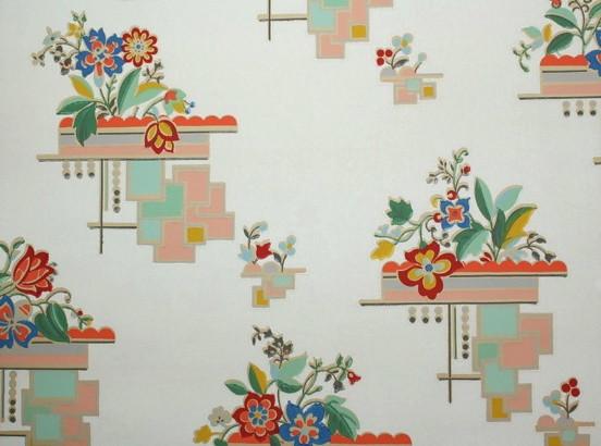art deco floral vintage wallpaper art deco floral