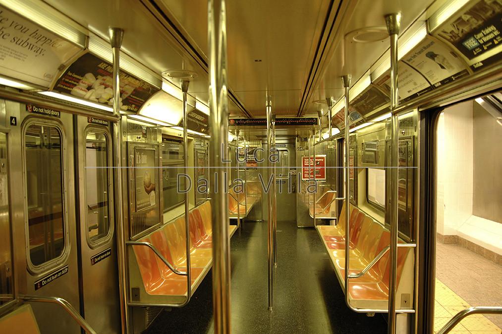 Subway Train New York City Usa Empty Subway Train New