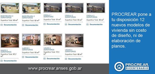 Ya se encuentran disponibles 12 nuevos modelos de casas pr for Modelo casa clasica 2 dormitorios procrear