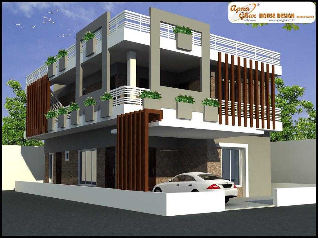 Duplex house design modern duplex house design view for Modern house design rules