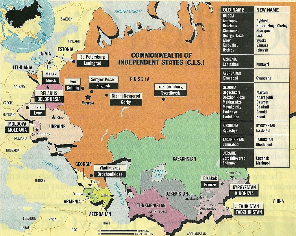 Map of Former Soviet Union 1992  As the Soviet Union disso  Flickr