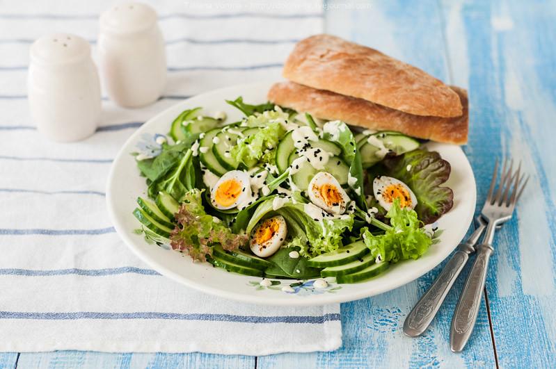 Салат простой с перепелиными яйцами рецепты с