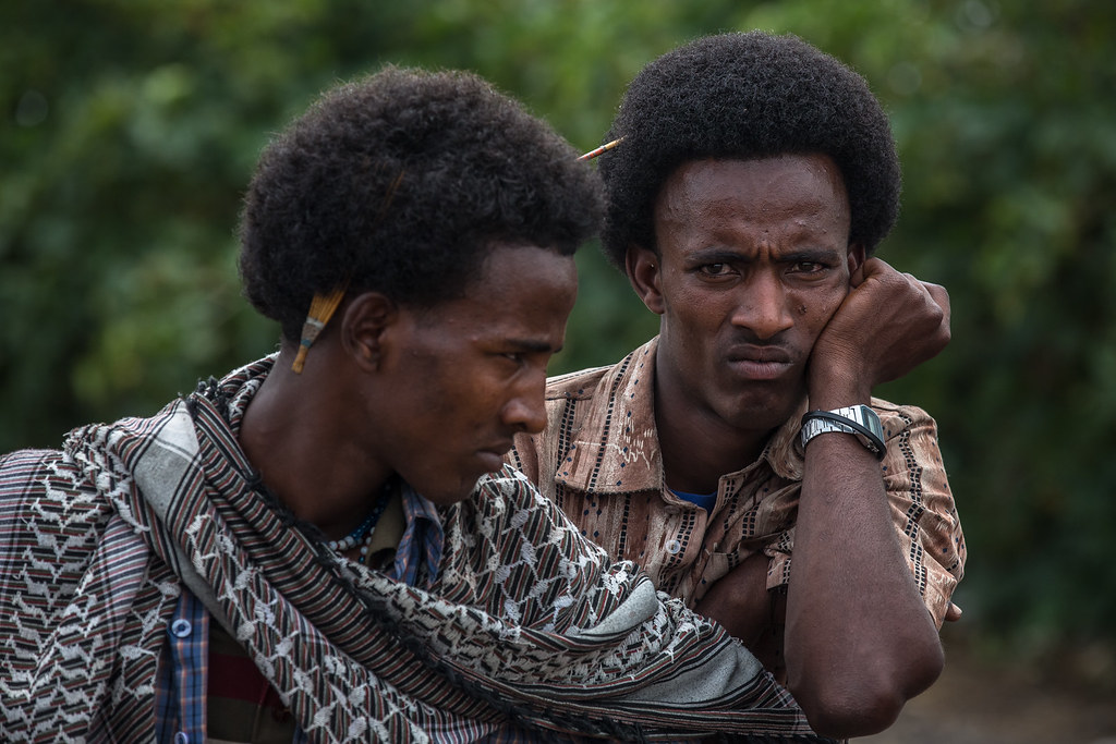 Latest Hair Styles For Boys In 2014 2: Two Boys Oromo With Their Hairstyle To The Bati Market