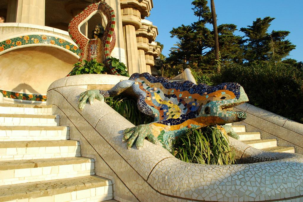 Park G Ell Salamander Park G Ell Barcelona Catalonia