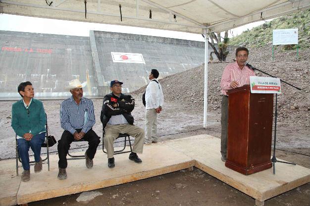 El gobernador Fernando Toranzo inauguró la presa La Tuza en Villa de Arriaga