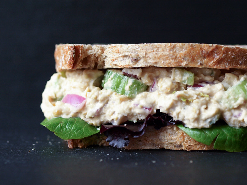 Chickpea of the Sea Salad Sandwich