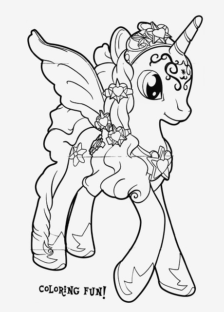 Coloring Pages Of Princess Twilight Sparkle : Princess twilight sparkle coloring pages