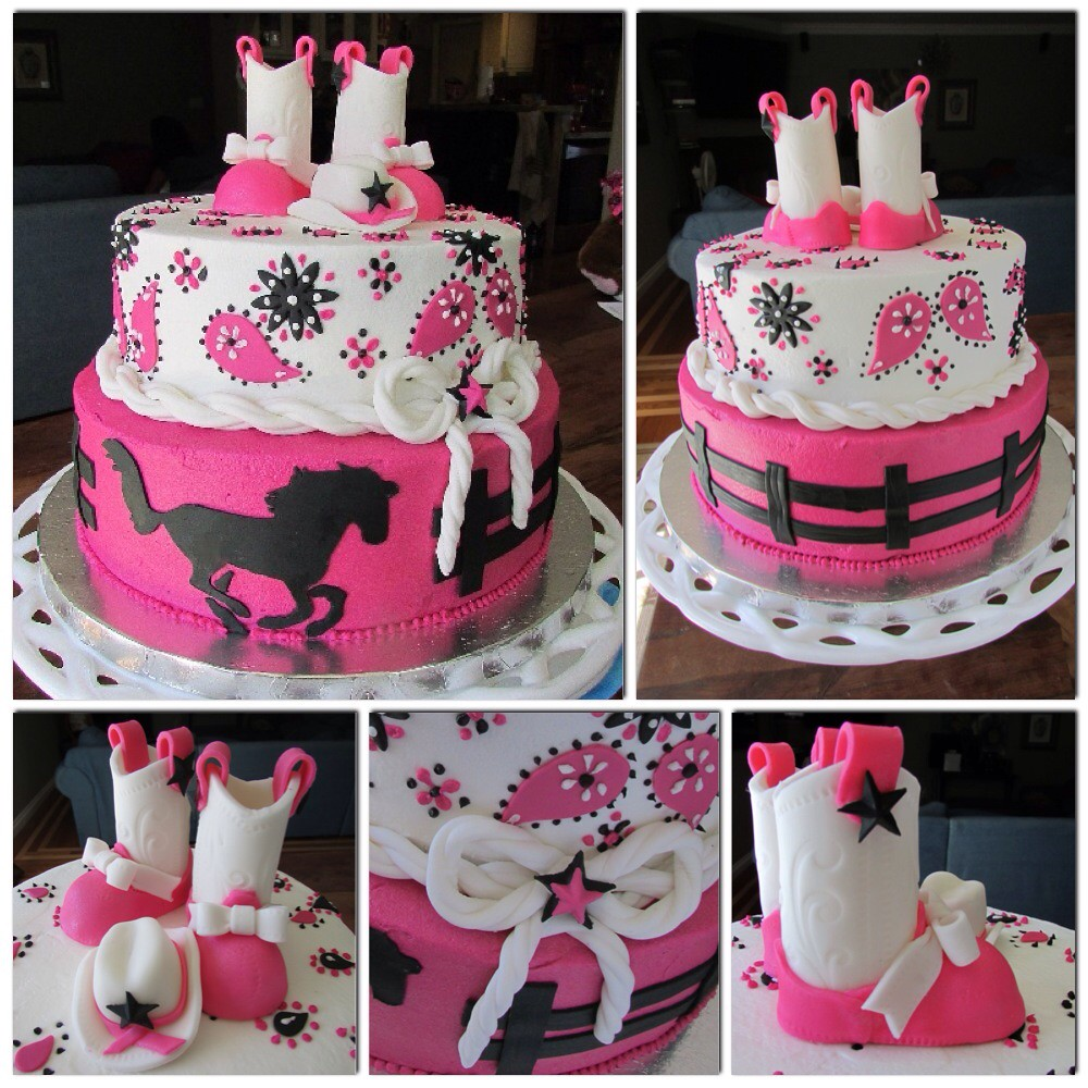 Cowgirl Baby Shower Cake Skyes Delights Flickr