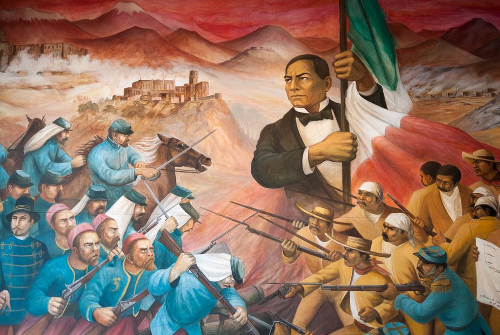 Ju rez el clero y los imperialistas jos clemente for Benito juarez mural