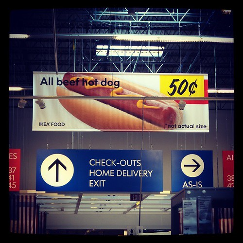 One of the best parts of a trip to @IkeaUSA... 50 cent hot dogs!