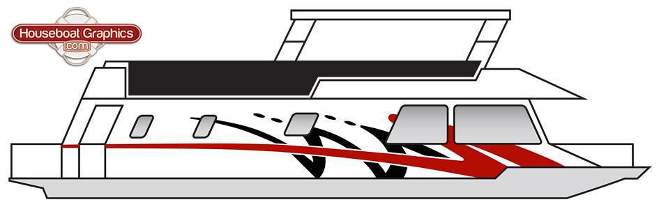 Houseboatgraphicsboatstripesmockupdesign Houseboatgr Flickr - Custom houseboat graphics