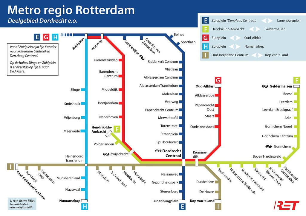 Metro regio Rotterdam - Deelgebied Dordrecht e.o.   This ...