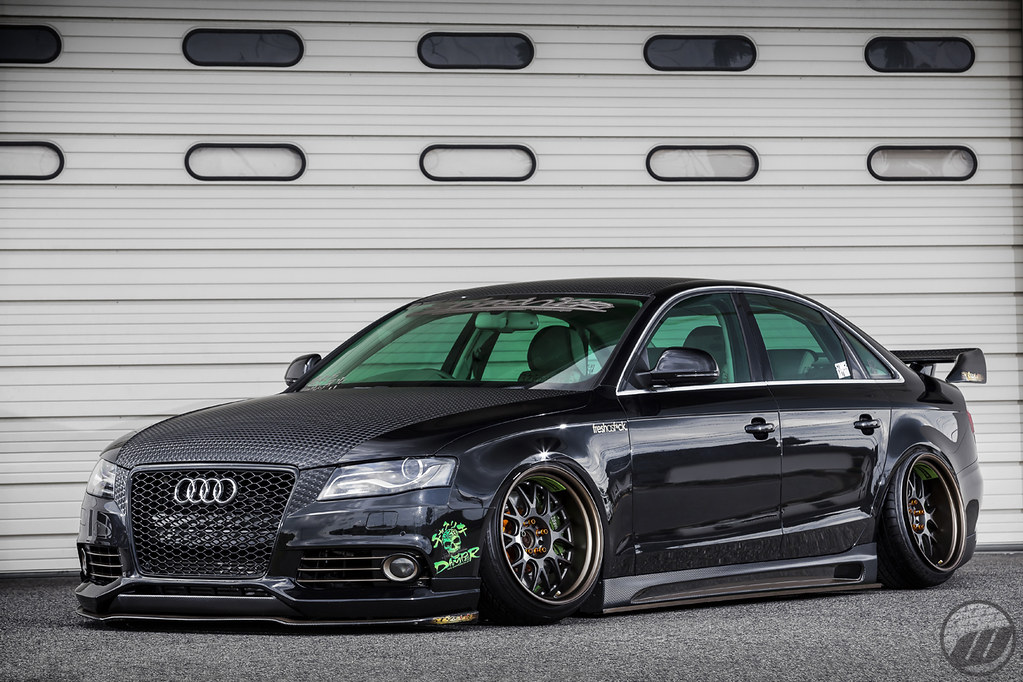 326 Power Audi A4 On Work Meister M1r Work Wheels Japan