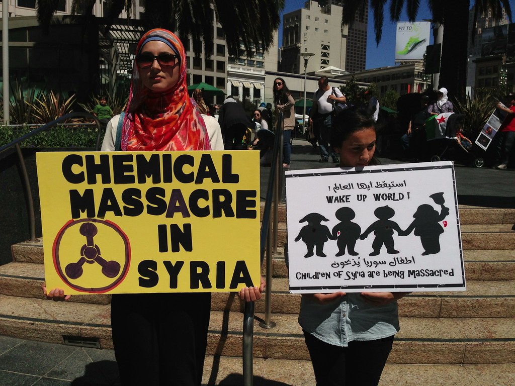 Chemical massacre in #Syria Syrian American Council protes… | Flickr