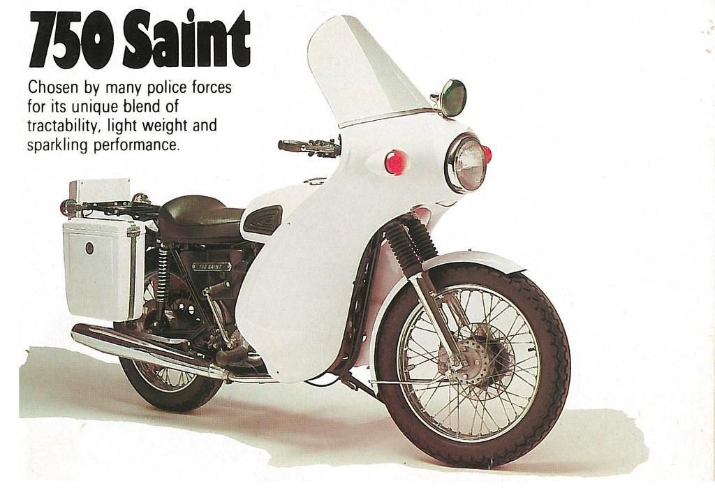 1976 Triumph 750 Tr7p Saint Police Bike 1976 Don T Think