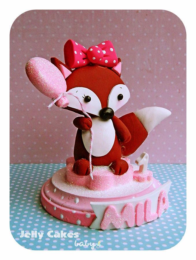 Sweet Fox topper for baby shower or baby's 1st birthday ...
