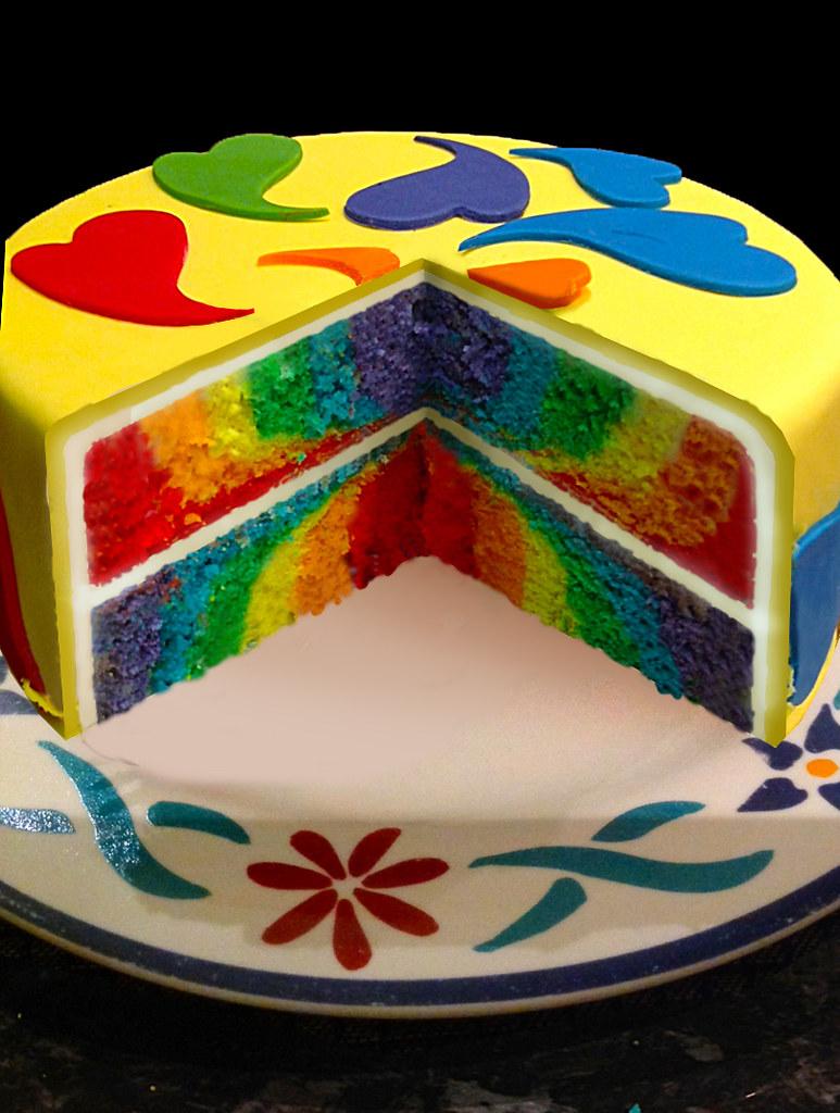 Rainbow Cake I Made This Cake For Linda S Birthday Her