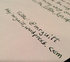 Handwritten Online Reference