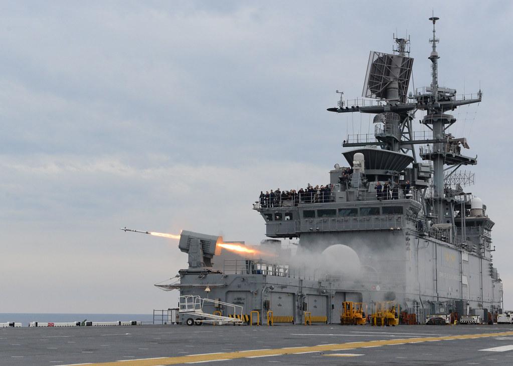 Uss Bataan Fires A Rim 116 Missile Atlantic Ocean Oct