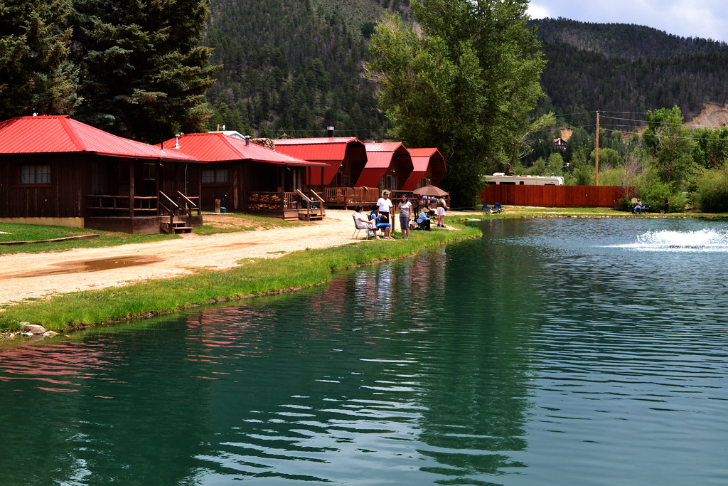 Cabins by the lake in red river nm beckie fourcher flickr for Red river new mexico fishing