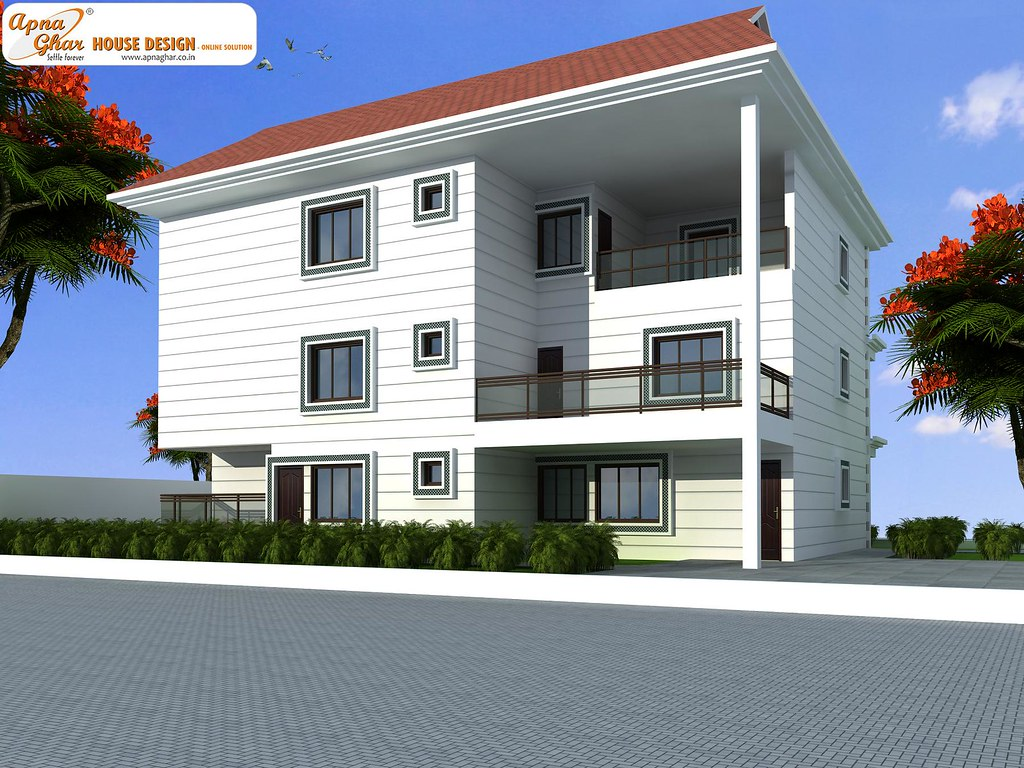 Triplex House Design 5 Bedrooms Triplex House Design In