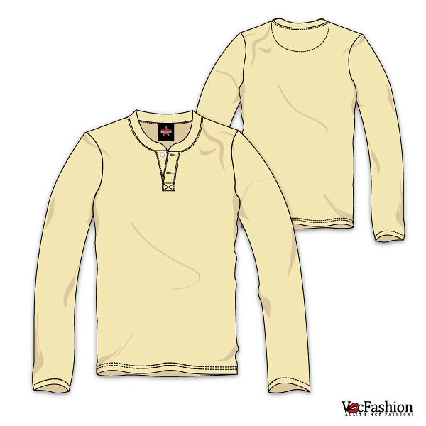 Mens Henley Neck T Shirt Long Sleeve Vector Template Flickr