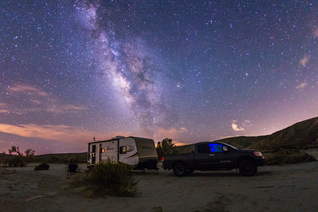 Camping under the stars in Anza-Borrego Desert State Park