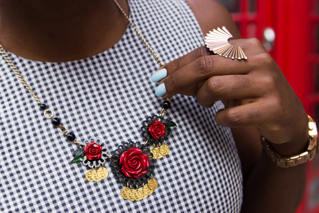 Tatty Devine rose necklace