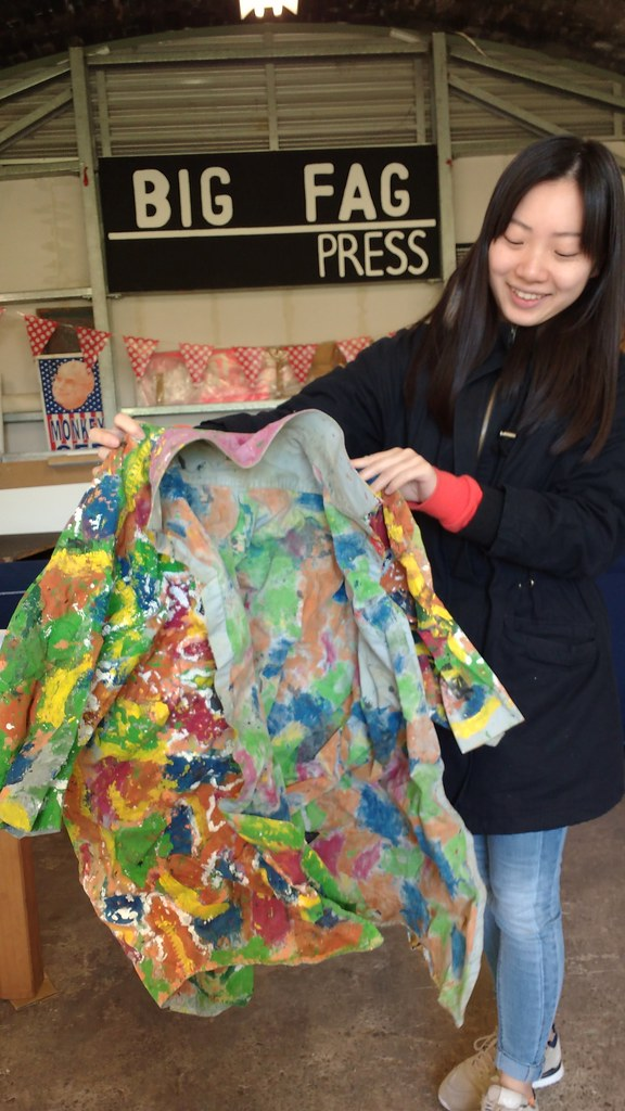 audrey qin with john demos art shirt