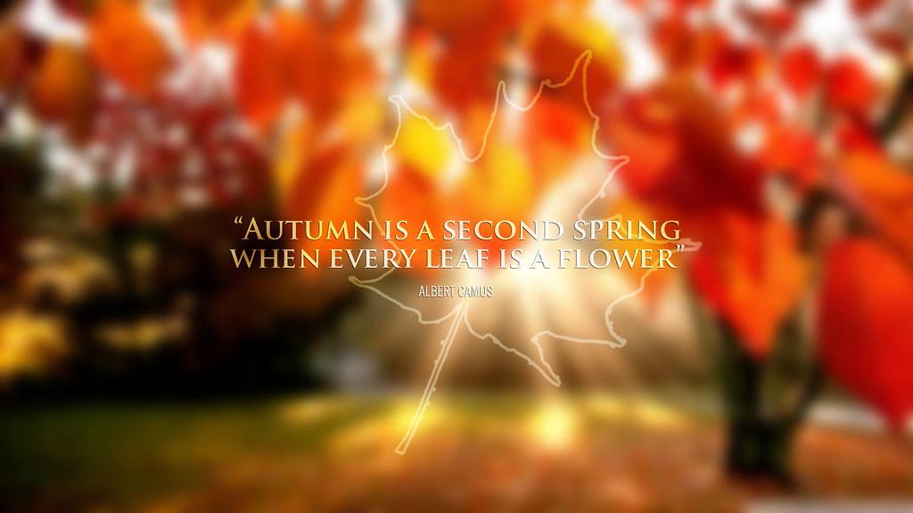 Autumn Landscape 5-wallpaper-text added.  jqk. Arts  Flickr