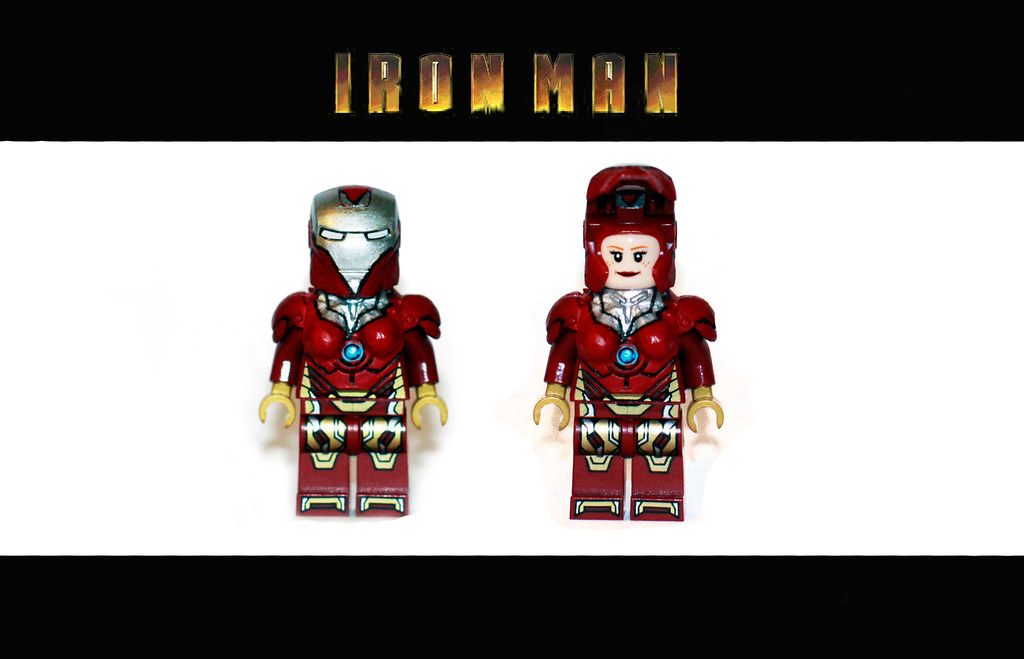 A3 Helmet Level 3 And Pan: Lego Iron Man - Pepper Potts - Iron Woman Suit