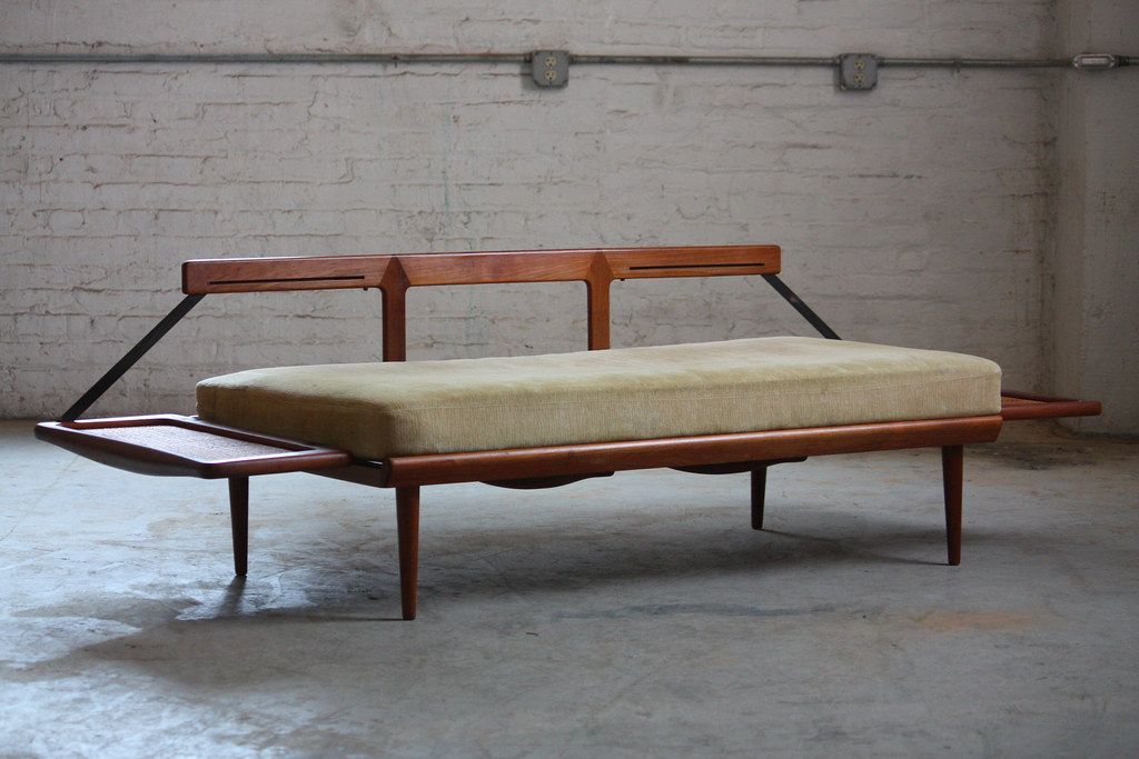 brilliant peter hvidt danish mid century modern teak convertible sofa daybed for france sons model brilliant mid century sofa