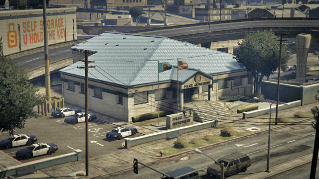 East Los Santos Police Station, San Andreas (AJM PS3 Netwo ...